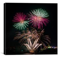 Plymouth Fireworks, Canvas Print