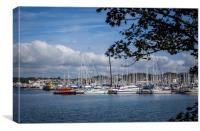 Marina, Clovelly Bay, Mount Batten, Canvas Print