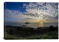 Mewstone Sunset from Wembury Point, Canvas Print