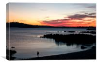 Plymouth Sound Sunset, Canvas Print