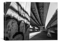 Under the Flyover, Canvas Print