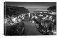 Staithes at Dusk, Canvas Print
