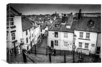 Whitby 199 Steps, Canvas Print