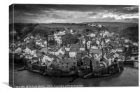 Staithes Village, Canvas Print