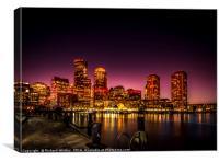 Boston Harbour, Canvas Print
