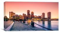 Boston Harbour Dusk, Canvas Print