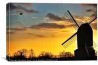 Sunset at Brill Windmill, Canvas Print