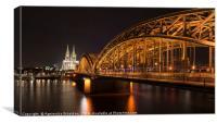 Bridge in Cologne, Canvas Print