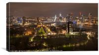 Rotterdam by night, Canvas Print