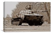 PT-76 Tank at RAF Upwood, Canvas Print