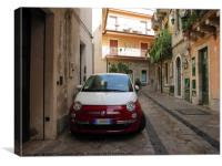 Fiat 500 in Sicily, Canvas Print