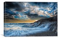 FISTRAL BEACH CORNWAL, Canvas Print