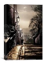 Walking home, Canvas Print