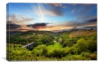 Monsal Head skyline, Canvas Print