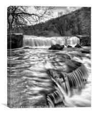 River Wye in full flow, Canvas Print