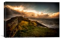 Incoming Storm at Burry Port, Canvas Print