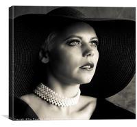Kseniya with Pearls, Canvas Print