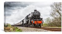 44871 Stanier Steam Locomotive, Canvas Print