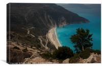 Myrtos Beach, Kefalonia, Canvas Print