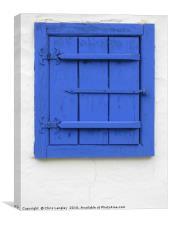 A Romanian Farmhouse Window, Shuttered, Canvas Print