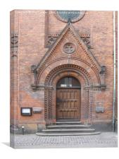 Portal of Learning, Copenhagen University Library, Canvas Print
