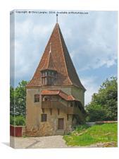 Turnul Cizmarilor- Shoemaker's  Tower, Sighisoara, Canvas Print