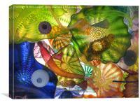 Art Glass - Underwater 10, Canvas Print
