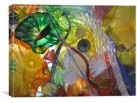 Art Glass - Underwater 12, Canvas Print