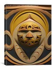Contemporary Canadian West Coast Native Mask, Canvas Print