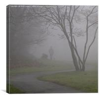 Dog in the Fog, Canvas Print