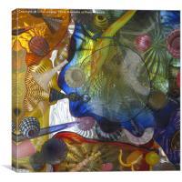 Art Glass - Underwater 5, Canvas Print