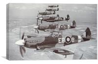 Spitfire Mk 12's of 41 Squadron RAF, 1944, Canvas Print