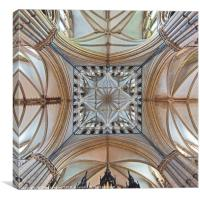 The Transept, Lincoln Cathedral, facing east., Canvas Print