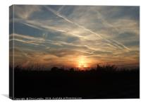 Lincolnshire sunrise from the top of the Wolds., Canvas Print