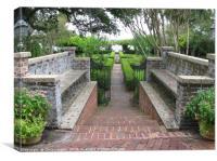 Formal Riverfront Garden, Jacksonville, Florida., Canvas Print
