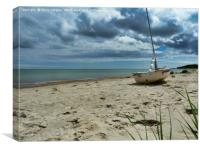 On the beach, Bodastrand, Öland, Sweden., Canvas Print