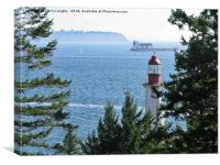 Point Atkinson to Point Grey, exiting Vancouver. , Canvas Print