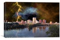 Stormy Richmond Skyline, Canvas Print