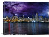 Spacey Chicago Skyline, Canvas Print