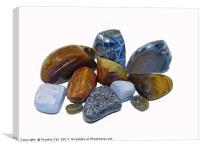 Polished Rocks, Canvas Print