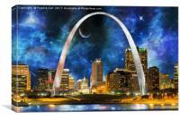 Spacey St. Louis Skyline, Canvas Print