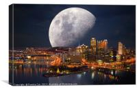 Spacey Pittsburgh, Canvas Print