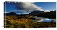 The Cuillin Hills from Loch nan Eilean            , Canvas Print