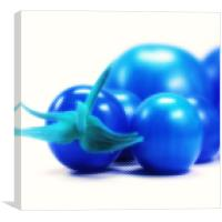 Blue tomatoes, Canvas Print