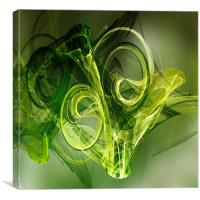 toxic Green Frog, Canvas Print