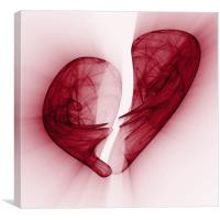 Heart pain, Canvas Print