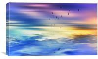 A day at the beach , Canvas Print
