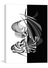 Black White minimalism , Canvas Print