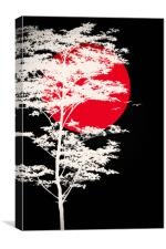 The blood Moon , Canvas Print