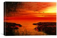 romantic sunset , Canvas Print